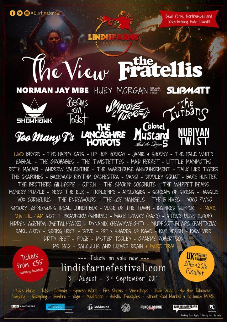 Lindisfarne-Festival-2017-Lineup-Poster