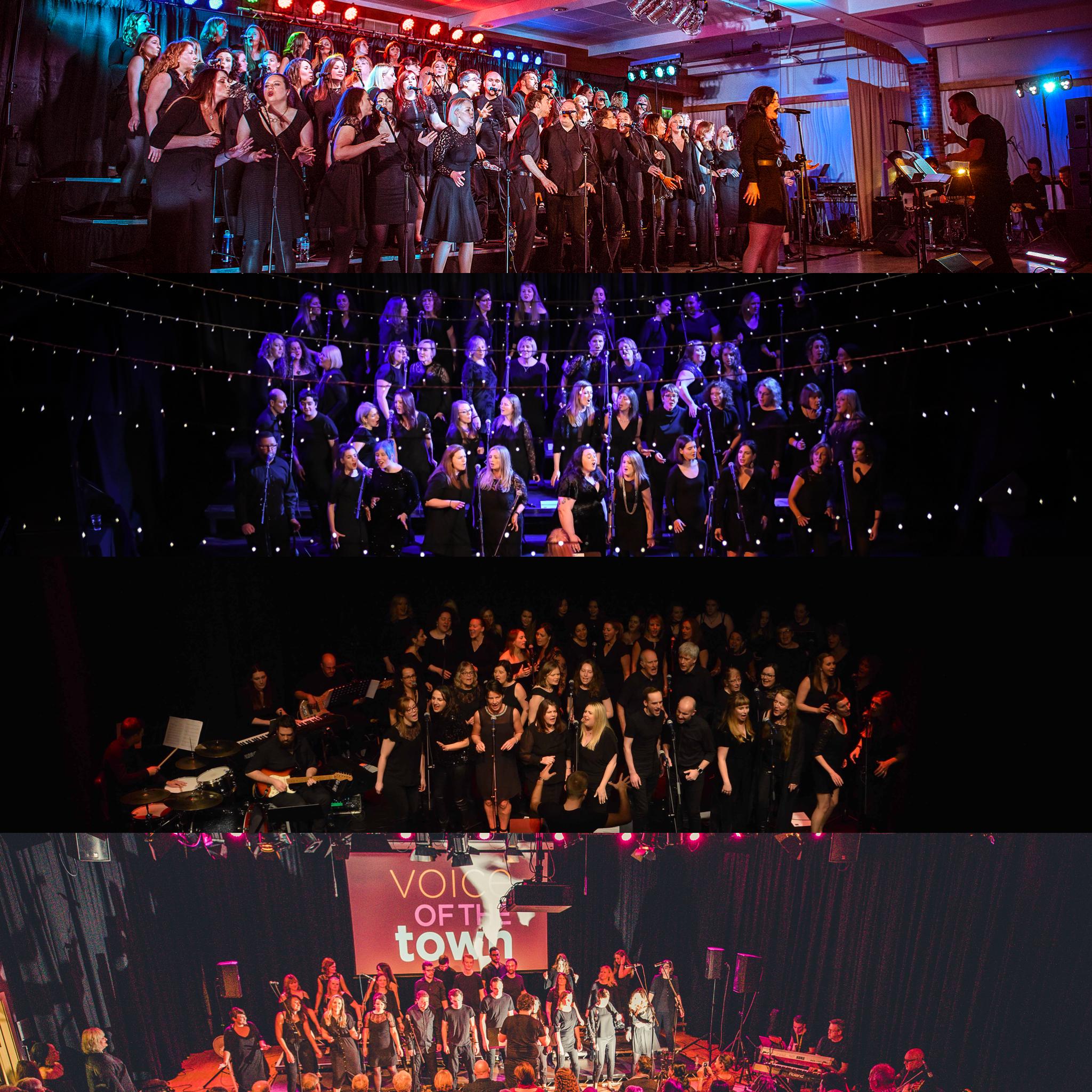 Birmingham, Edinburgh, Glasgow and Newcastle Voice of the Town Choir